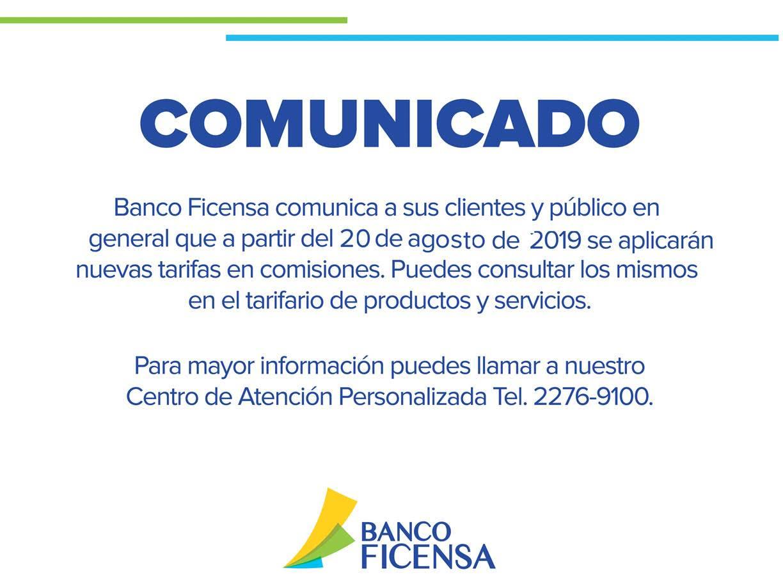 Banco Ficensa - Financiera Centroamericana
